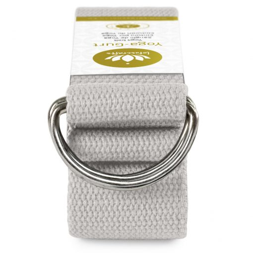 lotuscrafts organic yoga strap grey