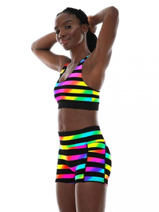 K-Deer Sports Bra Reversible Yoga Anny Stripe