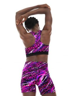 K-Deer Sports Bra Reversible Yoga Animal Print