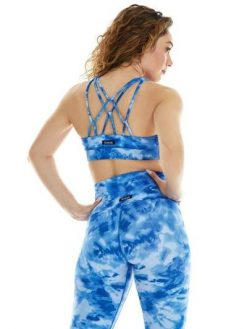 K-Deer Sports Bra Yoga Tie dye Print