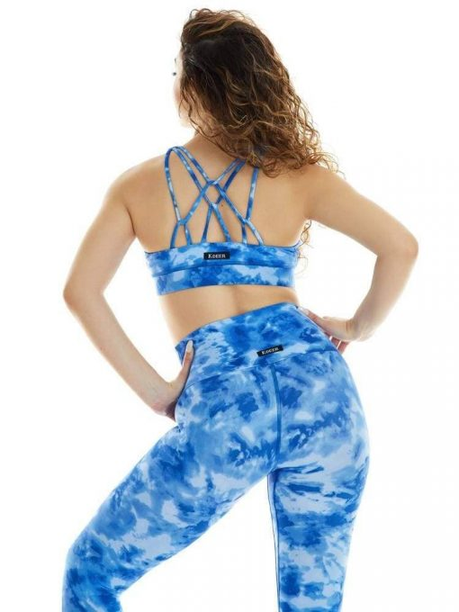 K-Deer Sports Bra Yoga Tie dye Print