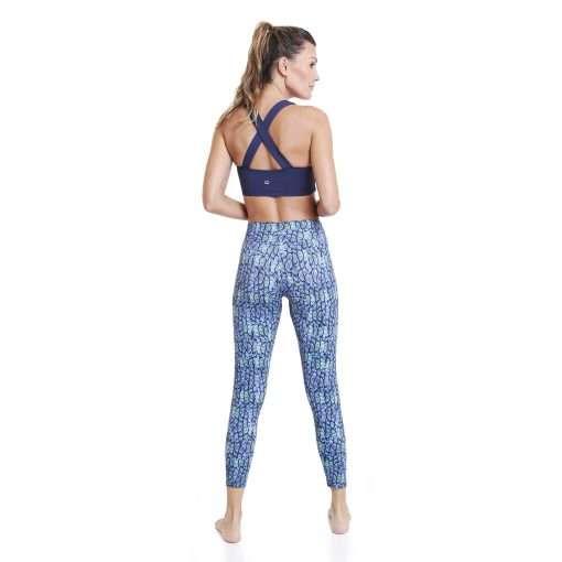 yoga pants liquido blue caiman leggings