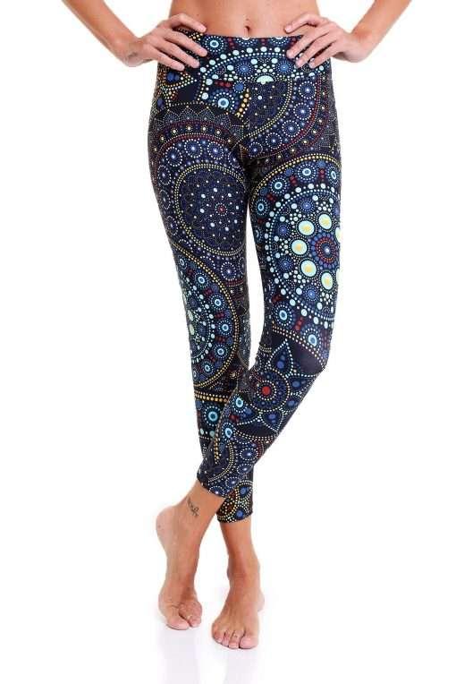 yoga pants liquido tribal flashing fireflies leggings