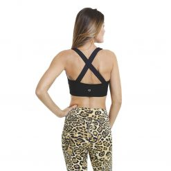 yoga sports bra liquido eco x back black