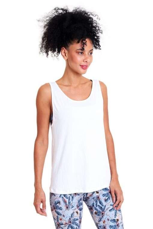 liquido yoga tank top graceful white