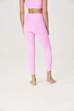yoga pants onzie bubblegum rib pink