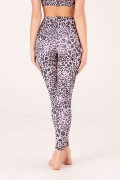 yoga pants onzie Evergreen rose giraffe animal print high waist