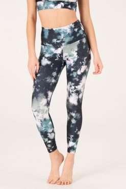 yoga pants onzie Evergreen Tie Dye high waist