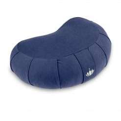 Lotuscrafts Meditation Cushion Zafu Half Crescent Royal Blue