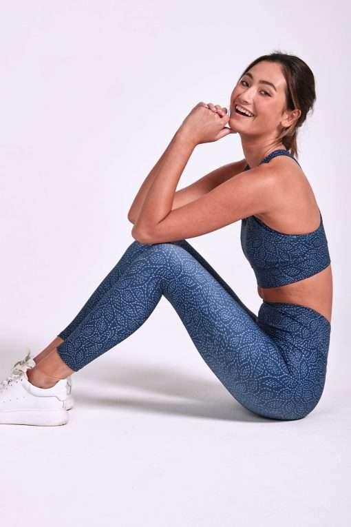 dharma bums balance midi yoga pants leggings tear drop