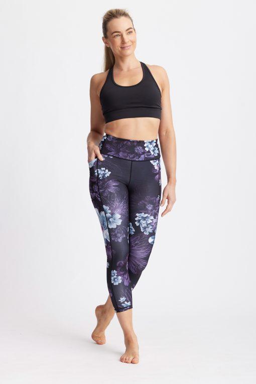dharma bums motion midi yoga pants leggings rosebud